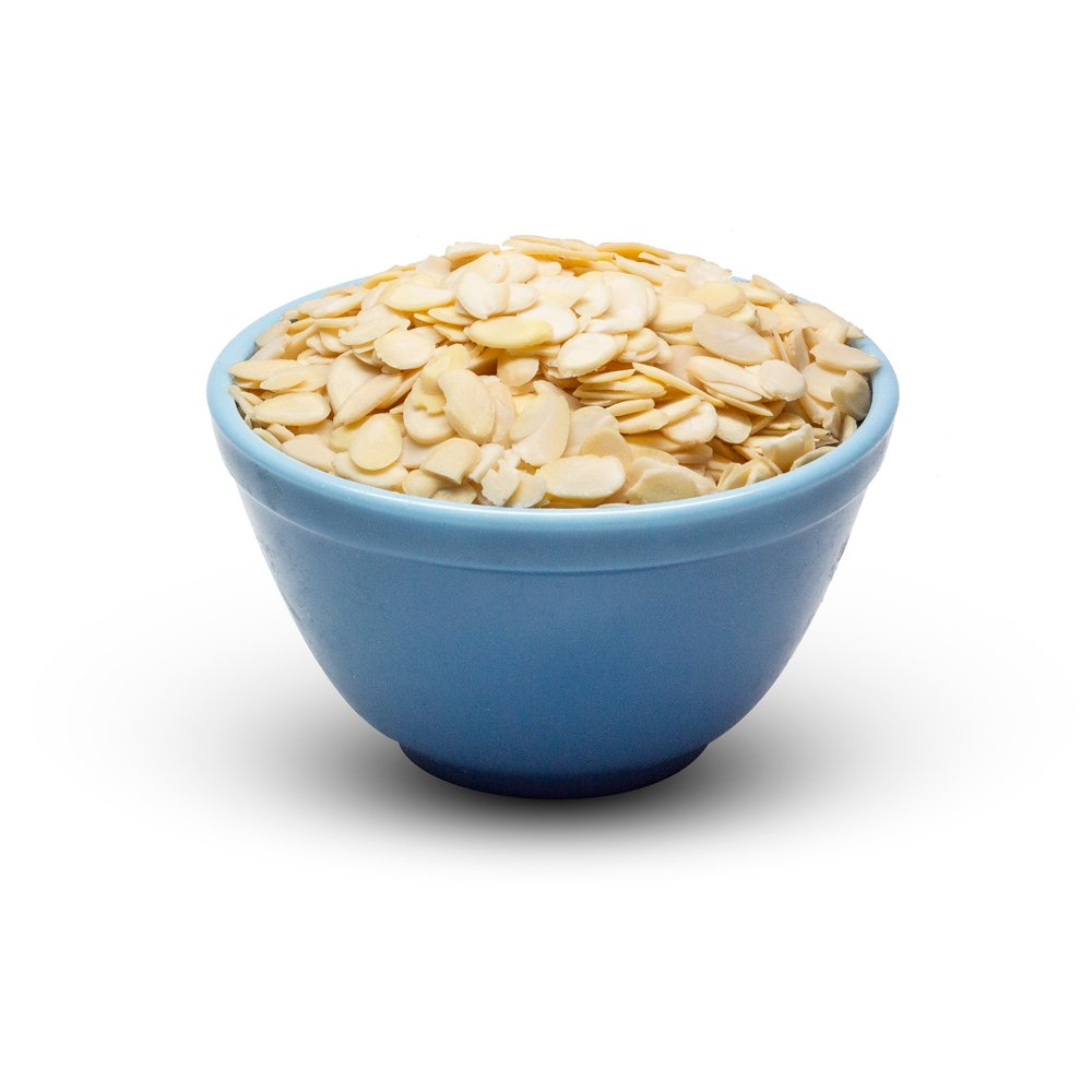 Almonds Blanched Sliced In Bowl