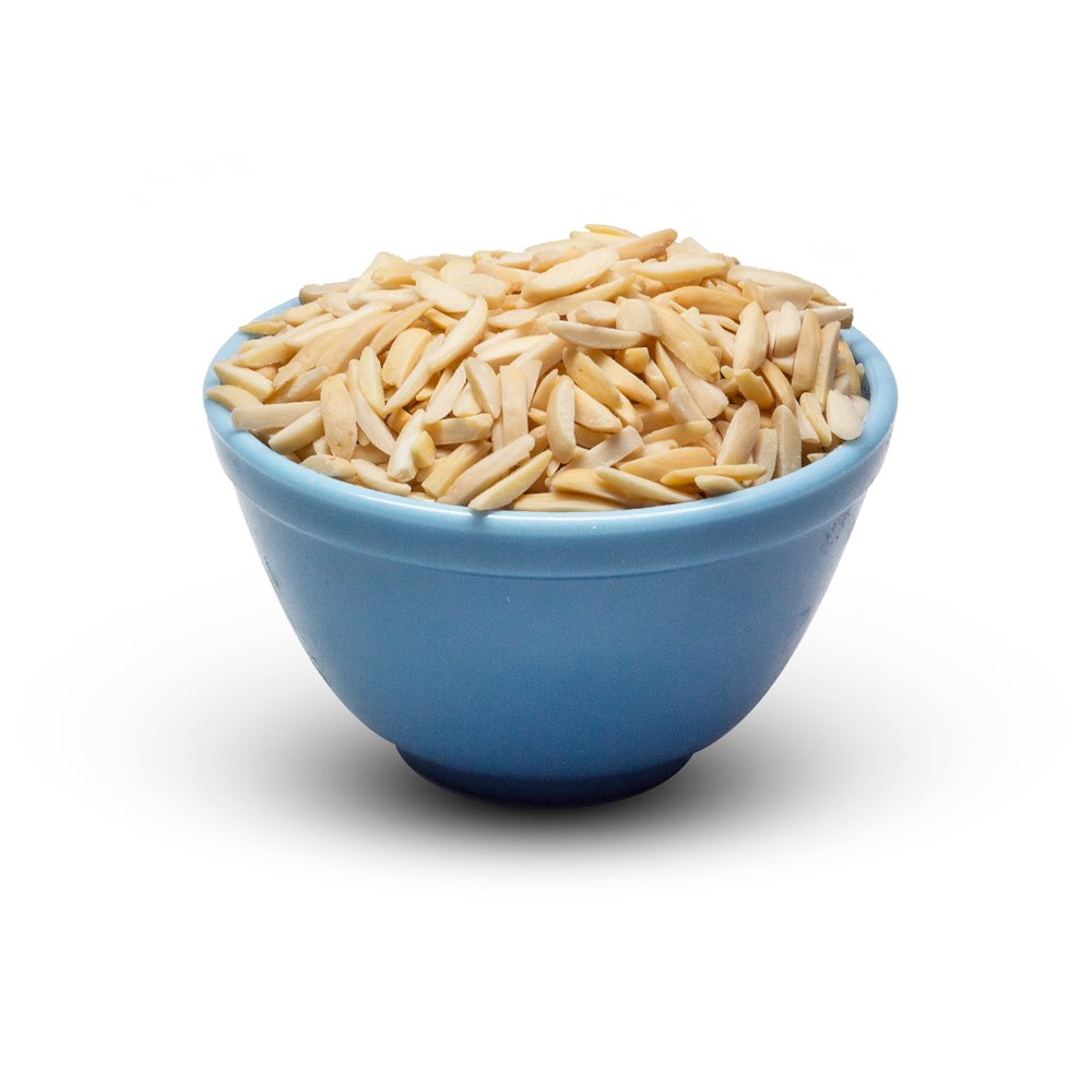 Almonds Blanched Slivered In Bowl