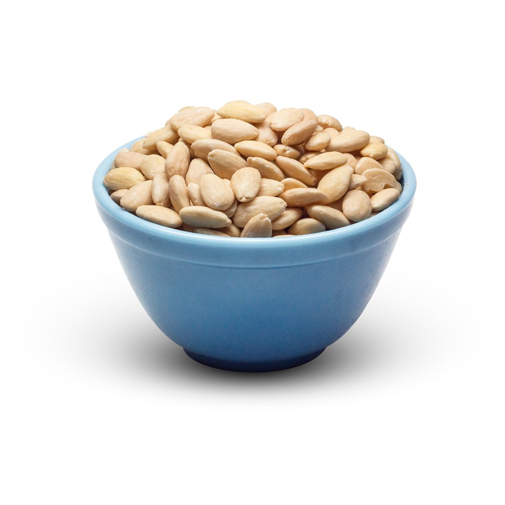 Almonds Blanched Whole In Bowl