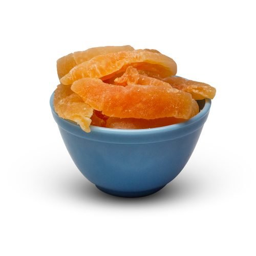 Dried Cantaloupe Slices Thai Sweet With So2 Sugar In Bowl
