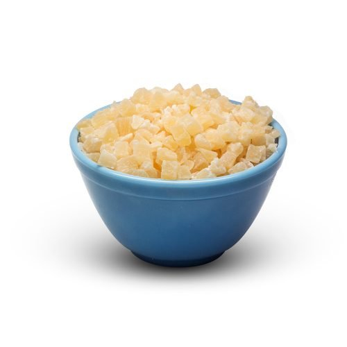 Dried Pineapple Diced Thai Sweet With So2 Sugar In Bowl