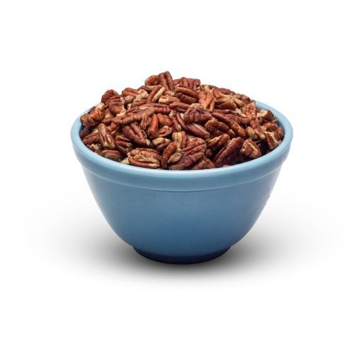Large Raw Pecan Pieces In Bowl