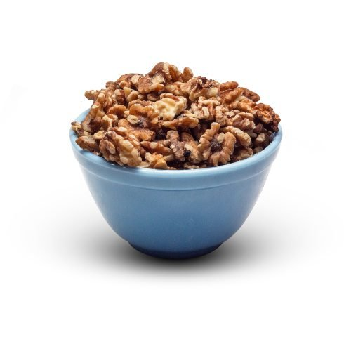 Raw Walnuts Combo Halves Pieces In Bowl