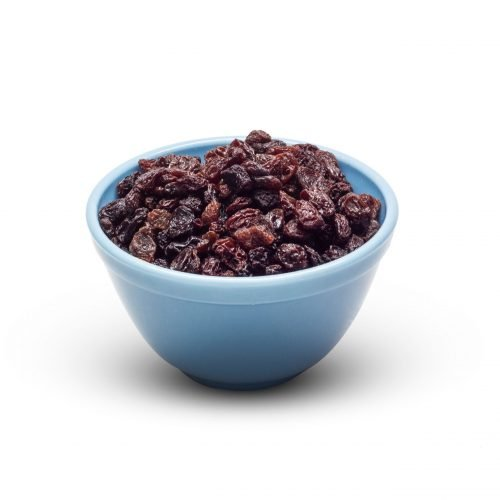 Black Raisins In Bowl Scaled