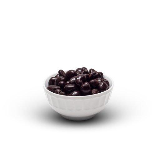 Dark Chocolate Cashews In Bowl