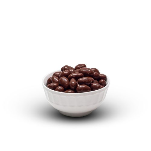 Milk Chocolate Almonds In Bowl