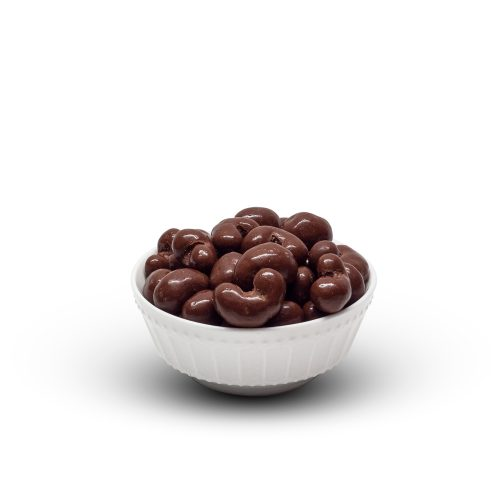 Milk Chocolate Cashews In Bowl