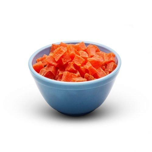 Papaya Chunks Sweetened With So2 In Bowl Scaled