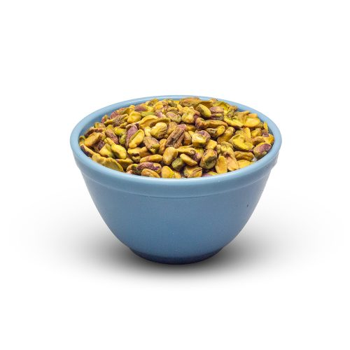 Pistachio Halves And Pieces In Bowl