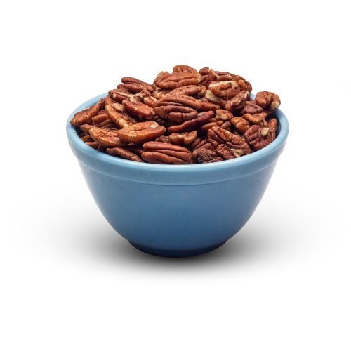 Raw Pecans In Bowl